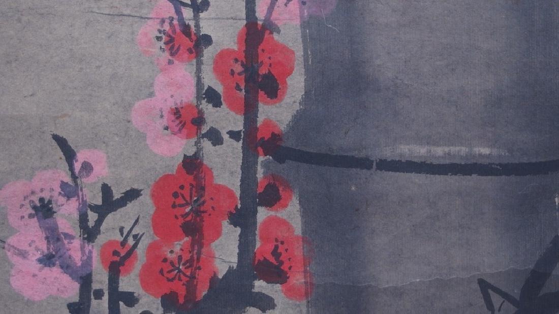 3 Chinese and Asian Landscape Foliate Bird Scrolls - 9