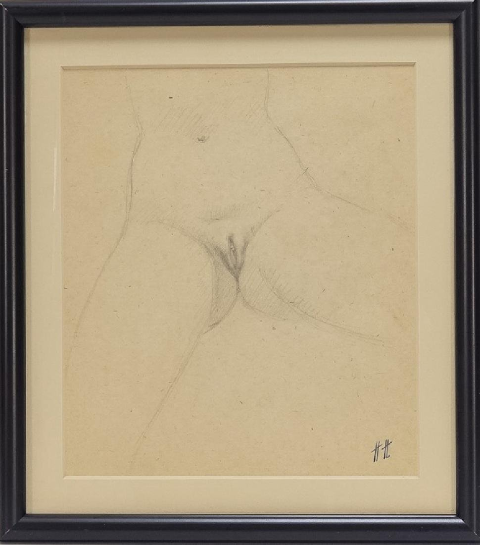 3 Hanns Haas Erotic Nude Female Genitalia Drawing - 6