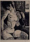 Marcel Gromaire The Couple Nude Erotic Etching