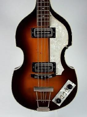 1985 Hofner Viola Style Sunburst Finish Bass