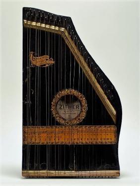 Antique The Phonoharp Co. Columbia No. 2 Zither