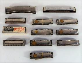 Group of Eleven Harmonicas