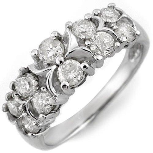 1.25 ctw Diamond Ring 10K White Gold - 10703-#57W6K