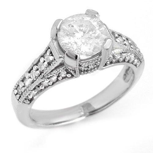 2.16 ctw Diamond Bridal Engagement Ring 14K White Gold
