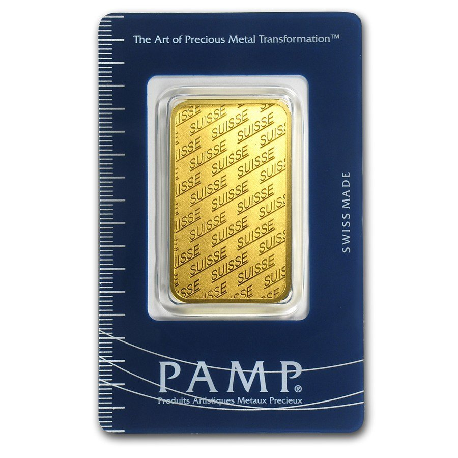 Fine Gold Bar 1 oz - Pamp Suisse New Design (In Assay)