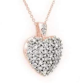 1.25 ctw Diamond Pendant 14K Rose Gold - 14148-#70Z8P