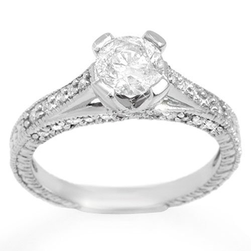 Genuine 1.50 ctw Diamond Bridal Engagement Ring 14K