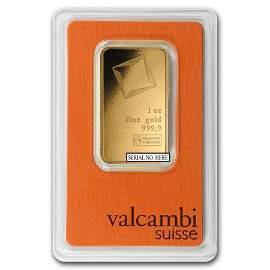 Fine Gold Bar 1 oz - Valcambi (In Assay)