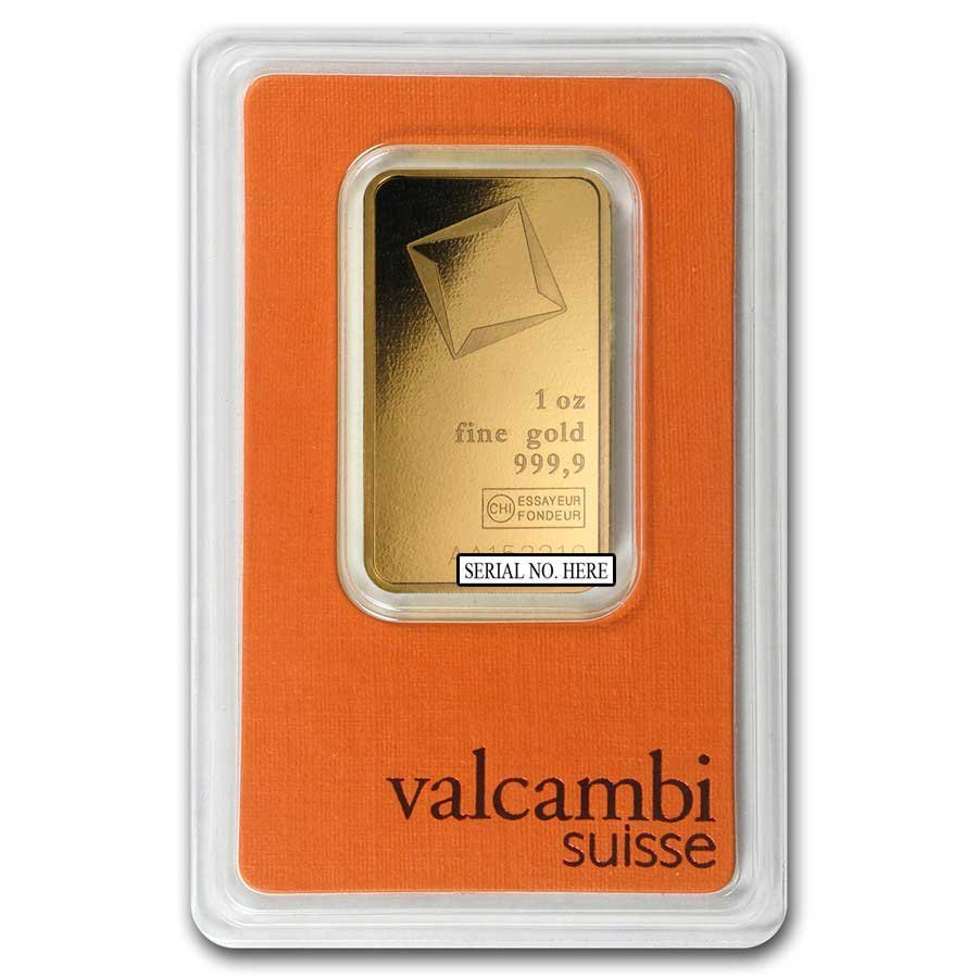 Fine Gold Bar 1 oz - Valcambi (In Assay)