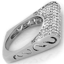 Natural 2.25 ctw Diamond Ring 18K White Gold -
