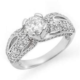 Natural 1.90 ctw Diamond Bridal Engagement Ring 18K