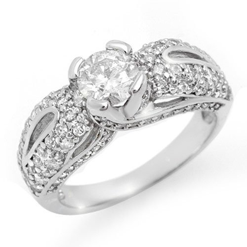 Natural 1.90 ctw Diamond Bridal Engagement Ring 18K