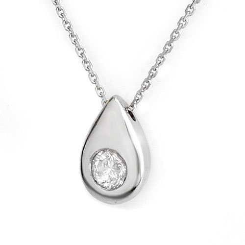 Genuine 0.40 ctw Diamond Necklace 18K White Gold -