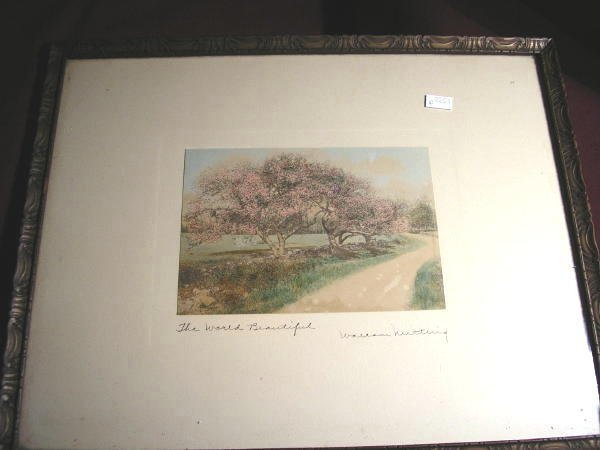 "1: WALLACE NUTTING PRINT ""THE WORLD BEAUTIFUL"""