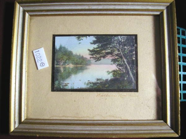 3: WALLACE NUTTING PRINT UNTITLED LAKE SCENE