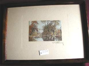 WALLACE NUTTING PRINT UNTITLED - STREAM SCENE