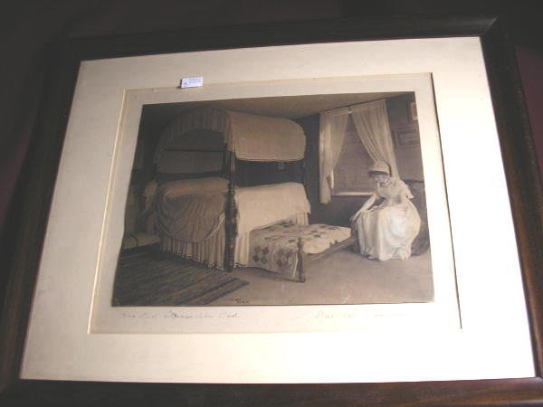 "7: WALLACE NUTTING PRINT ""HER OLD TRUNDLE BED"""