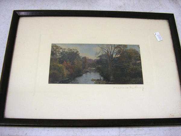 8: WALLACE NUTTING PRINT UNTITLED - RIVER SCENE