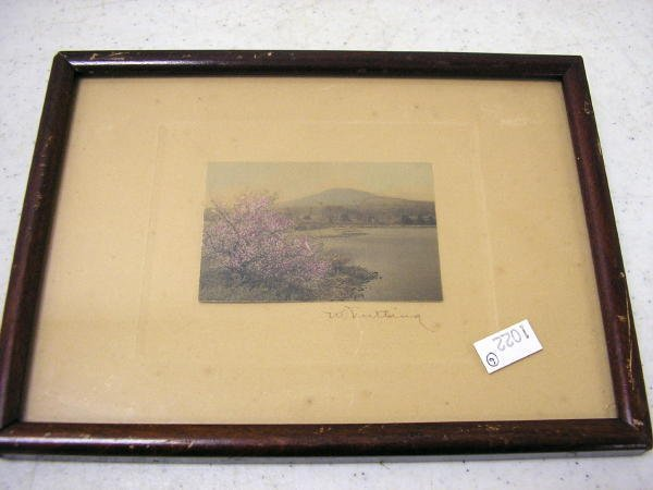 9: WALLACE NUTTING PRINT UNTITLED - LAKE SCENE