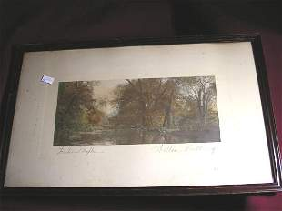 """WALLACE NUTTING PRINT """"WATER MAPLES"""""""