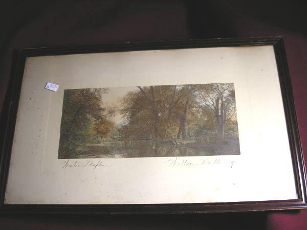 "10: WALLACE NUTTING PRINT ""WATER MAPLES"""