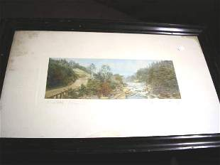 """WALLACE NUTTING PRINT """"A LITTLE RIVER"""""""