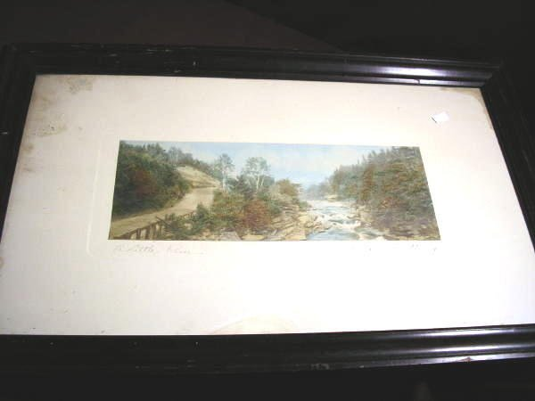 "14: WALLACE NUTTING PRINT ""A LITTLE RIVER"""