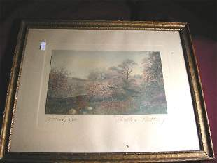 """WALLACE NUTTING PRINT """"A ROCKY DELL"""""""