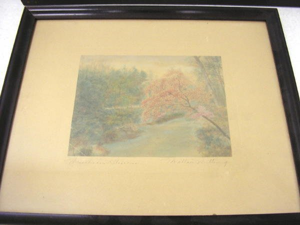 "22: WALLACE NUTTING PRINT ""THISSAHICKON BLOSSOMS"""