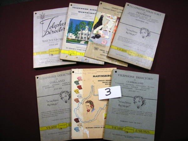 1203: 7 TELEPHONE BOOKS; WAYNESBORO, MARTINSBURG, WV