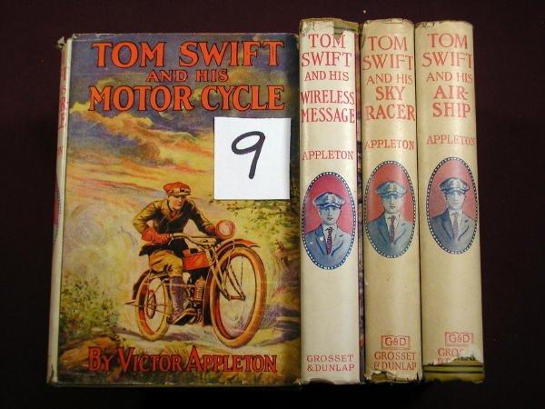 1209: (JUVENILES)  7 TOM SWIFT, 5 IN DUST JACKET, A