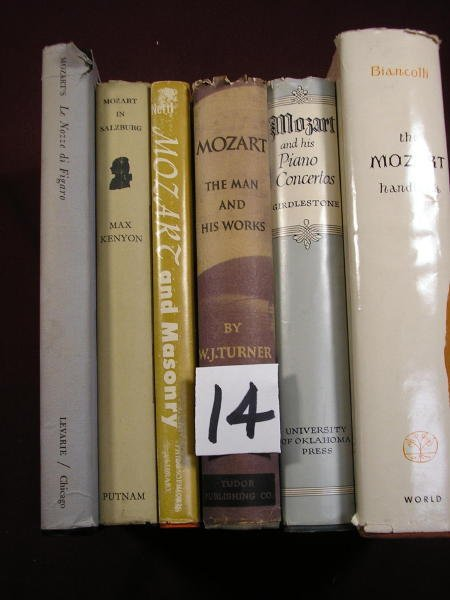 1214: (MOZART)  6 Books on Mozart and his works al