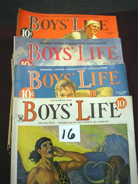 1216: (BOY'S LIFE MAGAZINES) 59 ISSUES:  1932-MARCH