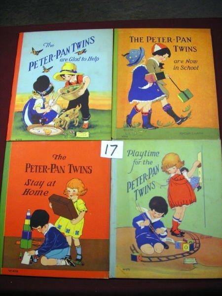 1217: (CHILDREN) FOUR PETER PAN TWINS 1928-1929