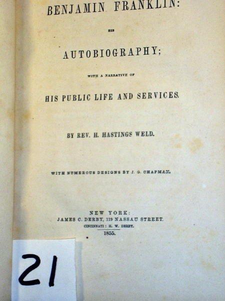 1221: (AMERICAN HISTORY) FRANKLIN, BENJAMIN; AUTOB