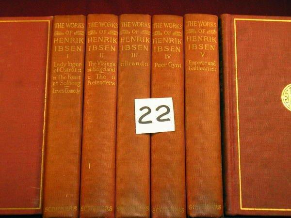 1222: (LITERATURE)  IBSEN, HENRICK; Complete Works