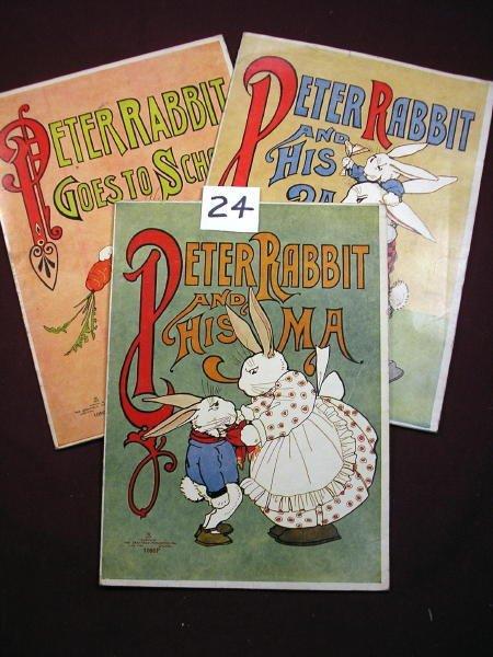 1224: (CHILDRENS')  3 PETER RABBIT CHILDREN'S BOOK