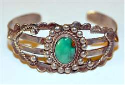 Vintage turquoise American Indian bracelet