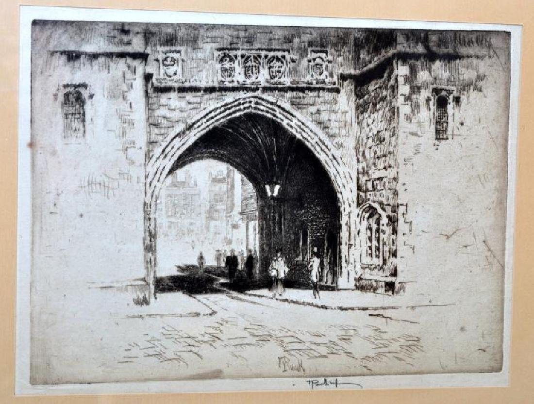 Joseph Pennell etching pencil signed