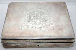 President Taft sterling cigar box presentation
