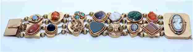 Victorian 14k slide bracelet