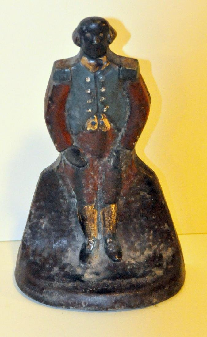Butler rare antique doorstop cast iron