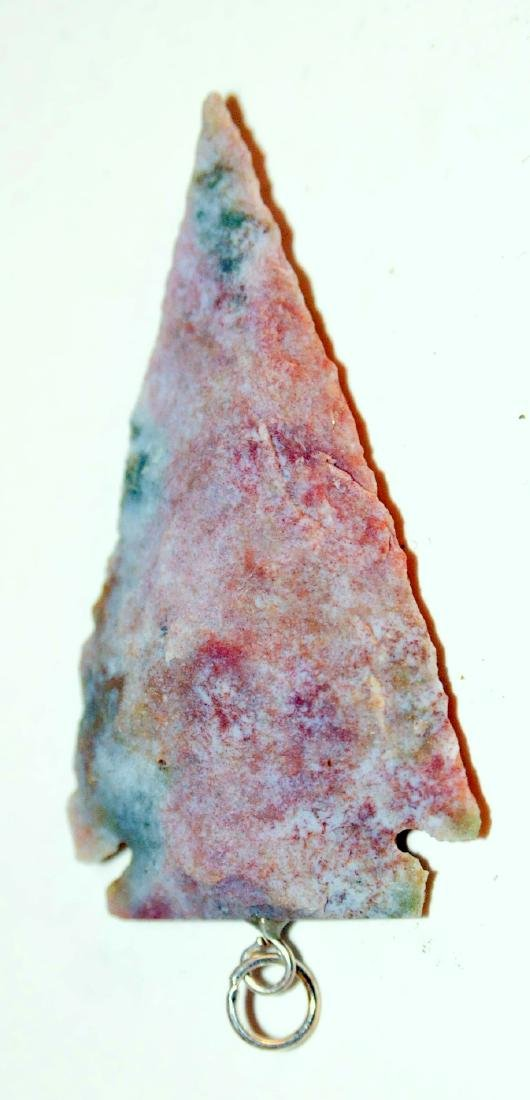 Arrowhead napped Indian pendant