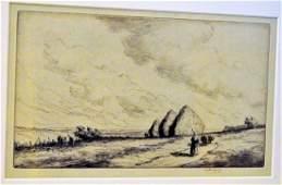 Martin Hardie etching 1933 signed