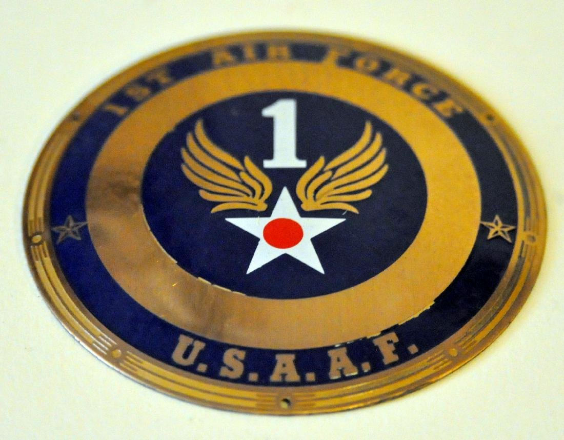 1st Air Force WWII plaque enamelled