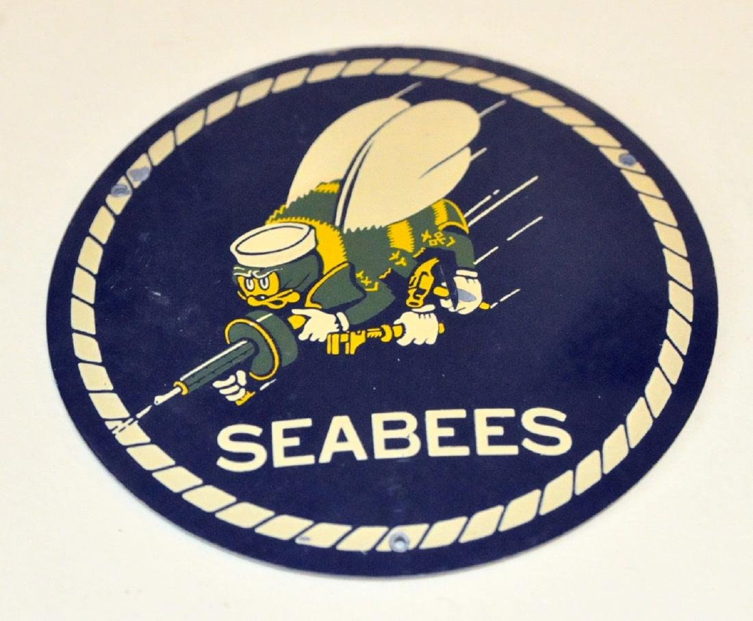 SeaBees plaque WWII enamelled