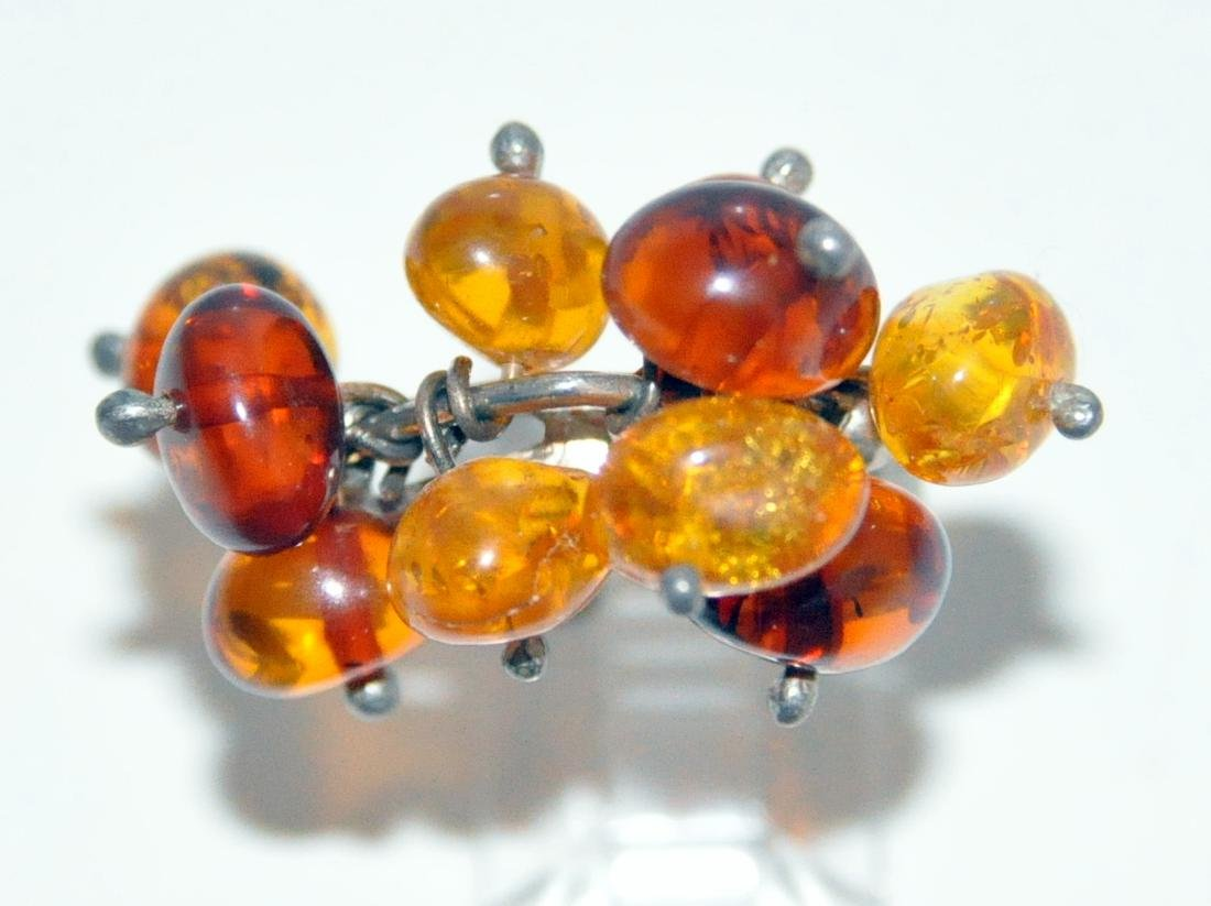 Sterling amber ring Baltic