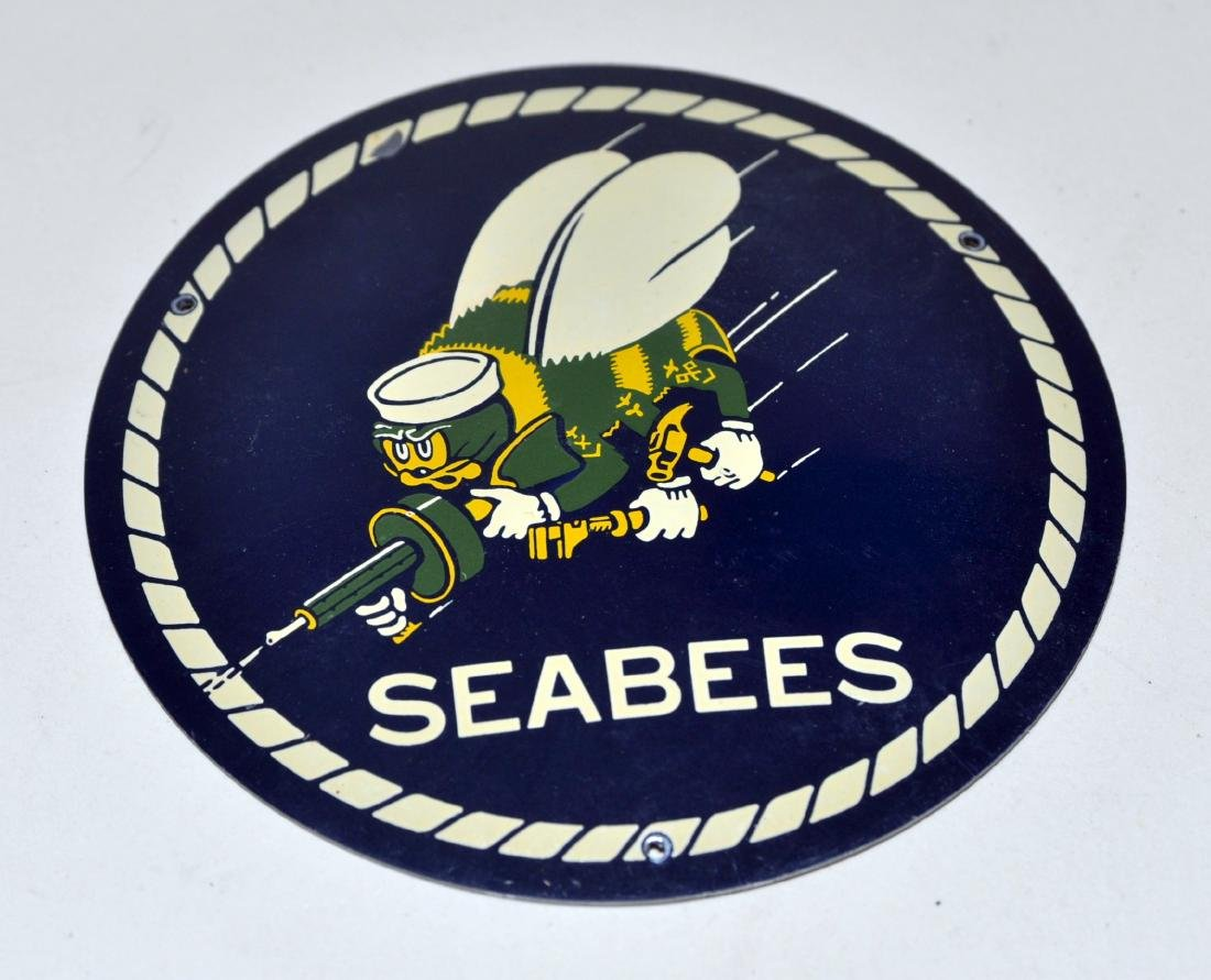 Seabees WWII military plaque