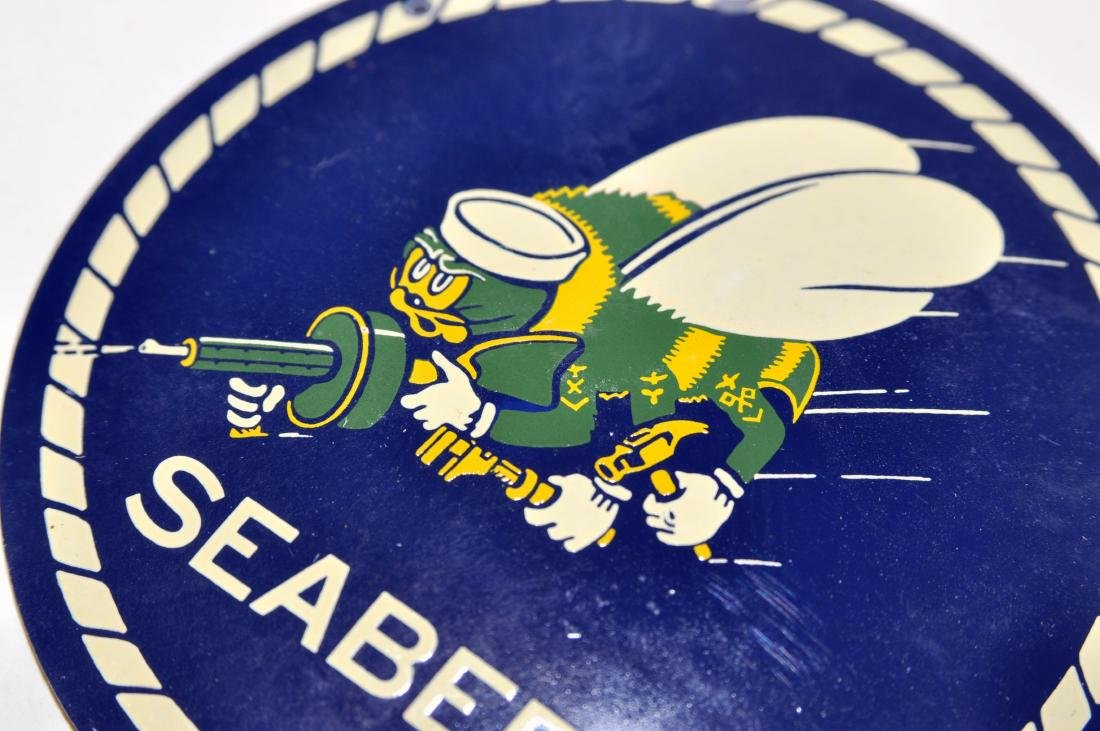 Seabees WWII military plaque - 2