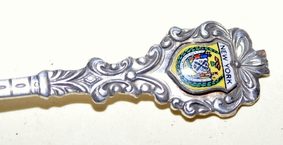 Brooklyn Bridge souvenir spoon vintage enamel - 4